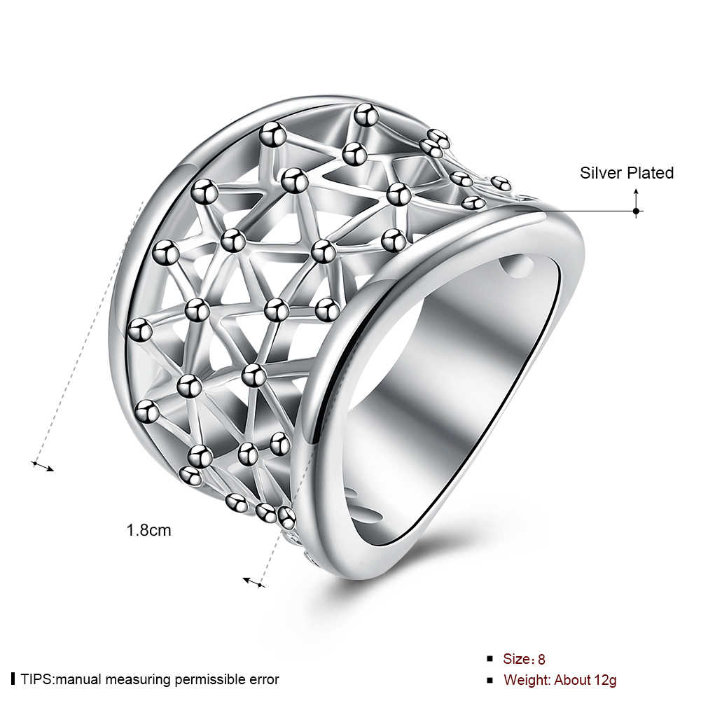 Большой круглый оправа на леске кольца из стерлингового серебра 925 для женщин ювелирные изделия Анель Anillos Aneis ювелирные изделия Анель Anillo любовь подарок