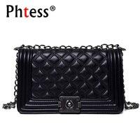 2017 Lady Leather Plaid Bag Women Crossbody Shoulder Bags Chain Luxury Brand Diamond Lattice Messenger Bags