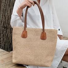 Fashion Ladies Summer Handbags Large Beach Bag Women Handmade Rattan Woven Straw Bohemian Shoulder Bags for Sac a main