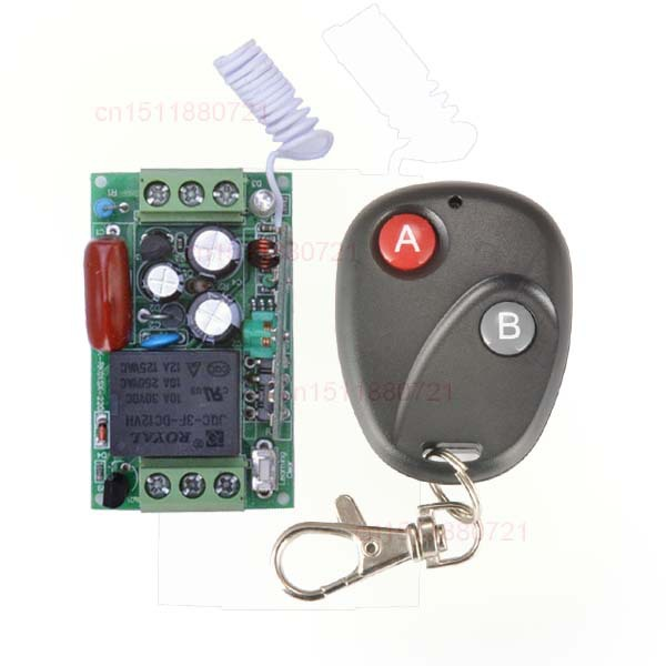 220V 1CH 10A RF Wireless Remote Control Switch System Receiver&Transmitter  Learning Code output state is adjusted 220v 1ch rf wireless remote control switch system 1 receiver