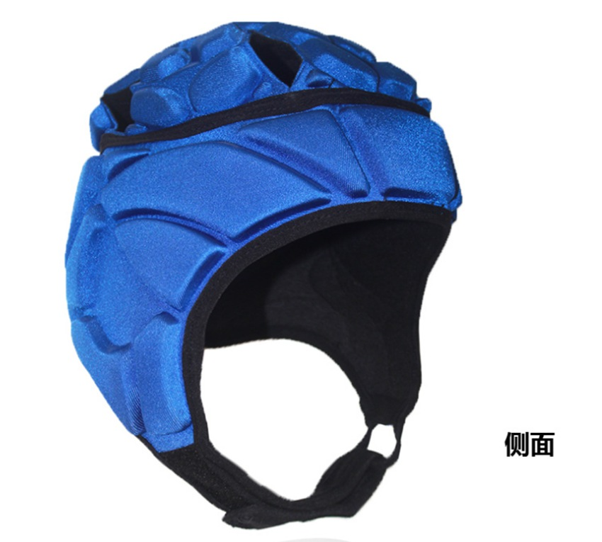 Thick sponge football goalkeeper helmet goalkeeper cap rugby wheel skate hat anti-collision helmet
