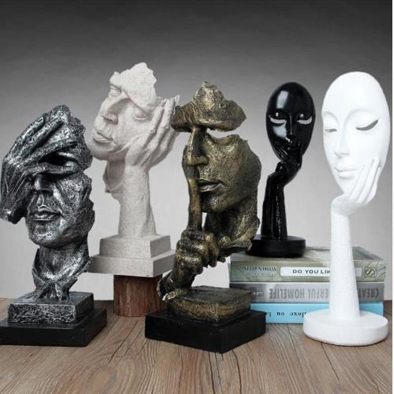 Abstraktní řemesla, figurky sochařských děl, kreativní bytové zařízení a kancelářské dekorace, učení dárků