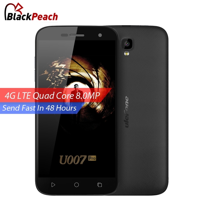Ulefone U007 Pro 4G Mobile Phone 5 inch HD 1280x720 IPS MTK6735 Quad Core Android 6.0 1GB RAM 8GB ROM 8MP Cam SmartPhone