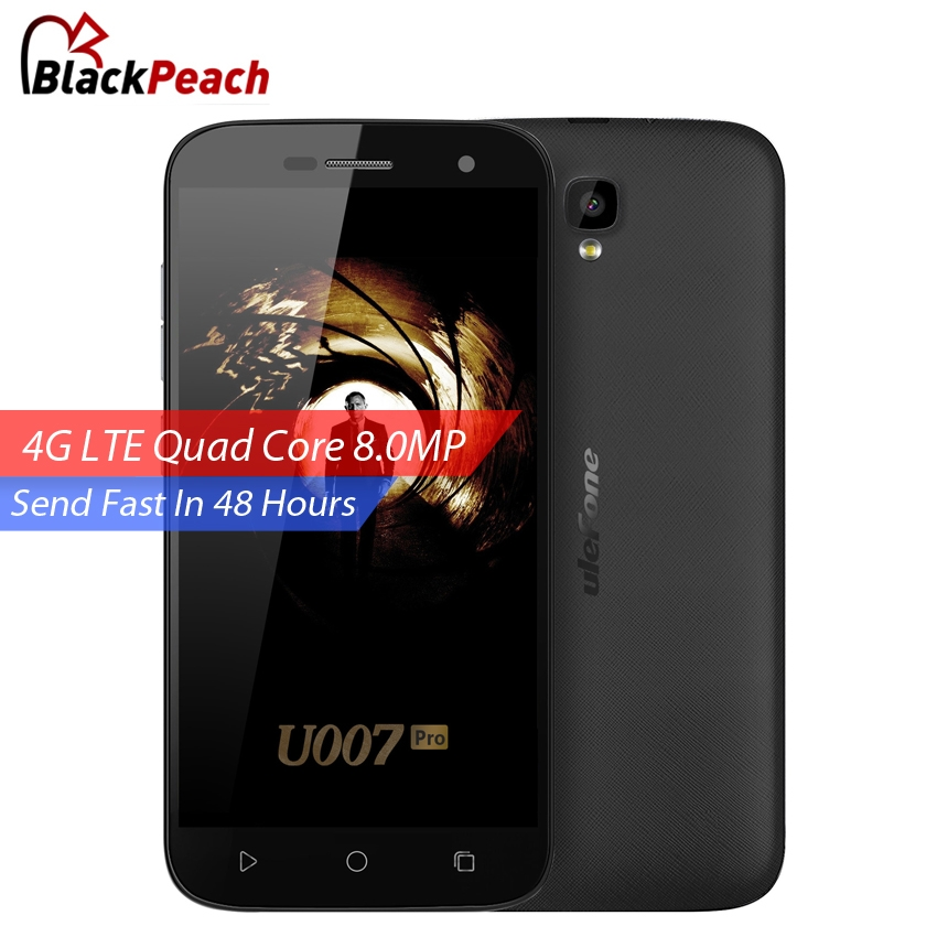 bilder für Ursprüngliches Ulefone U007 Pro 4G LTE Handy 5 zoll HD 1280x720 IPS MTK6735 Quad Core Android 6.0 1 GB RAM 8 GB ROM 8MP Kamera