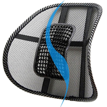 Chair Back Support Massage Cushion Mesh Relief Lumbar Brace