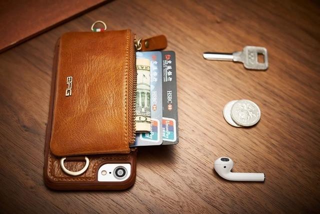 iphone 8 plus genuine leather case