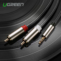 Ugreen HIFI RCA Jack Cables 3.5mm to 2 RCA Audio Cable Adapter Male to Male Nylon Braided Aux Cable for iPhone MP3 DVD Amplifier