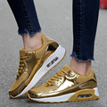 Men Casual Shoes Air Cushion Sport Mesh Breathable Shoes Lovers Basket Trainers Height Increasing Zapatillas Hombre Gold