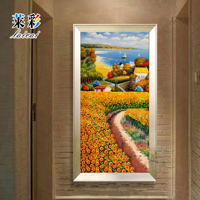 Dipinto a mano su tela dipinti ad olio fiori astratti for Fiori dipinti a olio