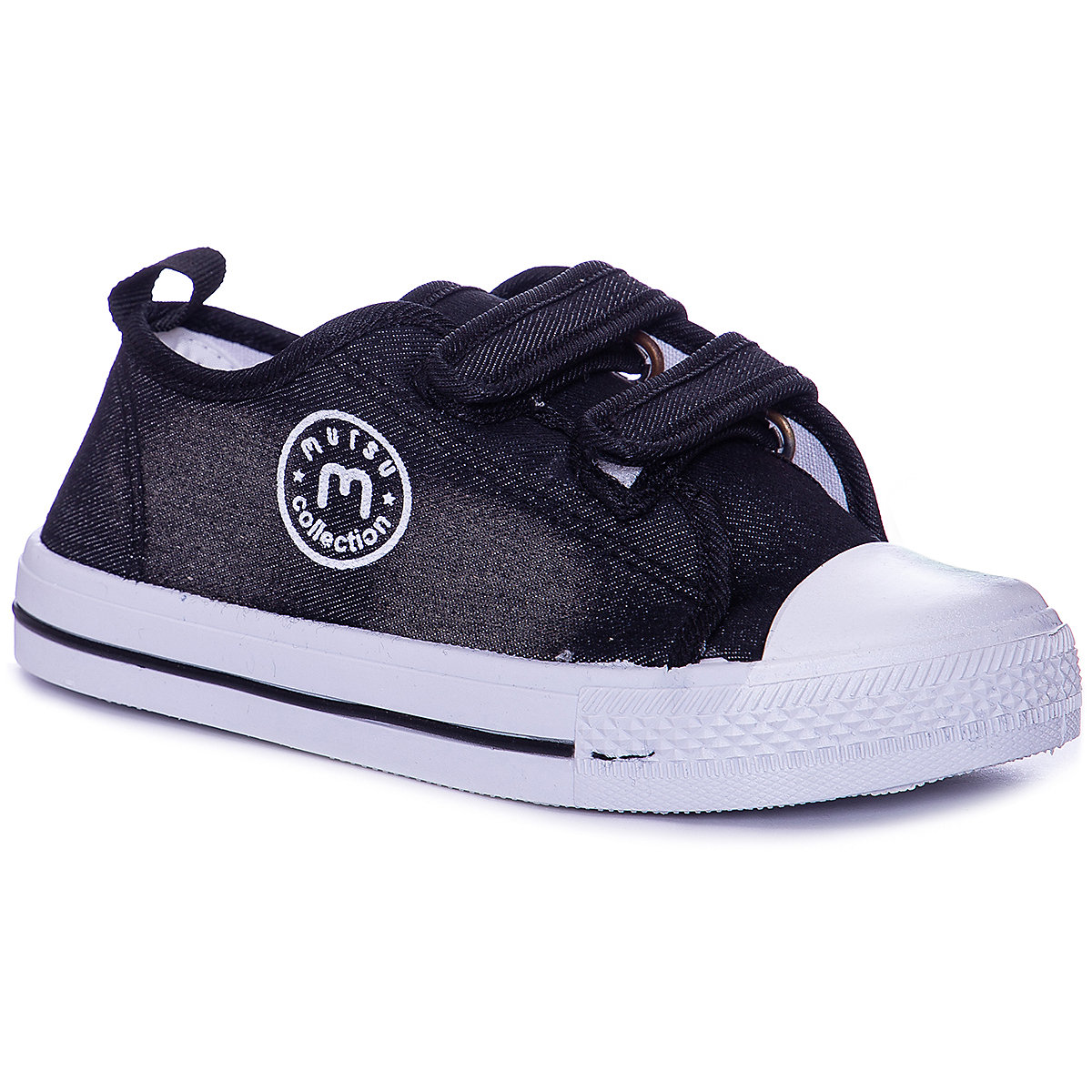Фото - MURSU Children Casual Shoes 10612172 sneakers running shoes for children Black sport Boys textile wen design hand painted black shoes ghostbusters high top lace up mens canvas athletic shoes womens flat bottom sneakers