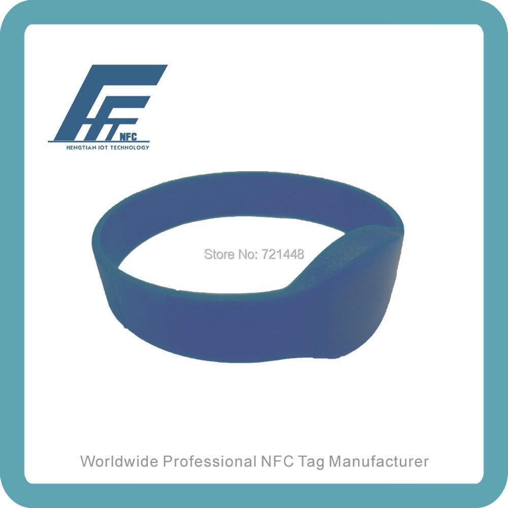100pcs NTAG213 Blue Oval Silicone Wristband Fits male adults Dia74 mm NFC Silicone Wristband Tag ntag213 wristband nfc wristband nfc