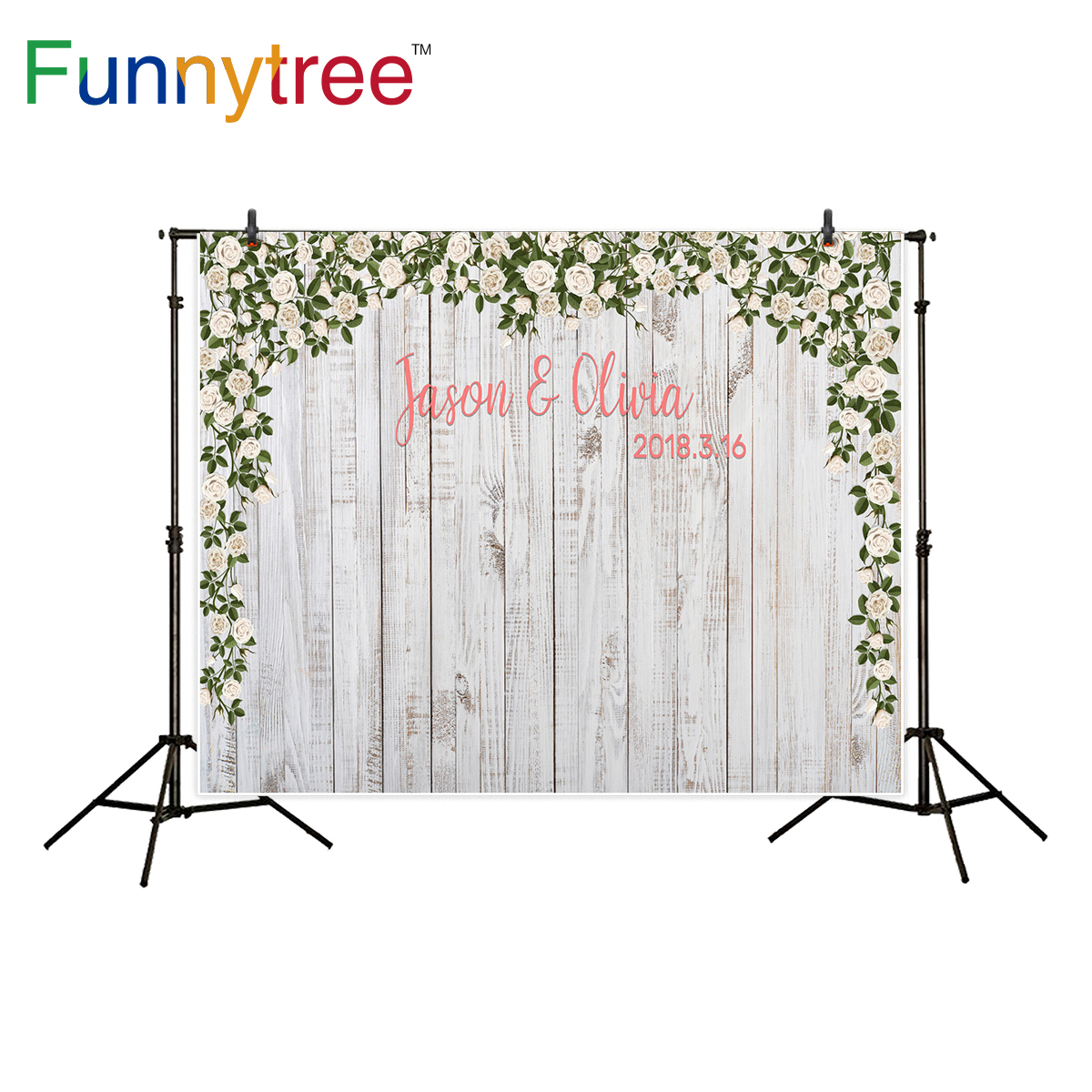 Funnytree background for photography wood flower decoration wedding custom party backdrop photo studio photocall new tr damask flower board photography backdrop pink wood newborn photo background for studio custom baby shower photo studio props