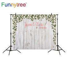 Funnytree background for photography wood flower decoration wedding custom party backdrop photo studio photocall new