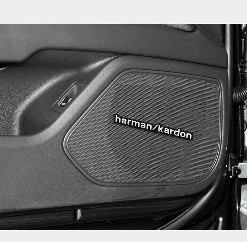 1 pièces Voiture Audio Décorer autocollant Coupe harman kardon Pour BMW/AUDI/Volkswagen/benz/Citroen/Toyota/Renault/MINI/Ford/KIA//M/AMG