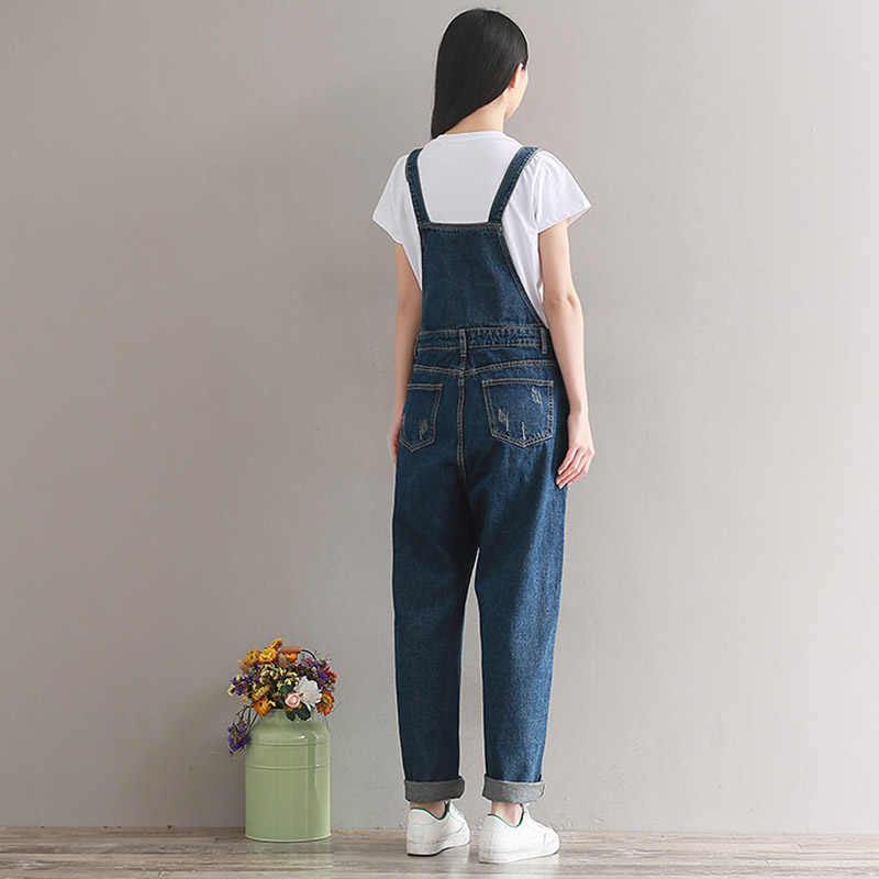 b890861c676 ... THHONE Brand Jeans Women Jumpsuit Denim Romper Overalls Casual Long  Trousers Vaqueros Basic Denim Pants Wide ...