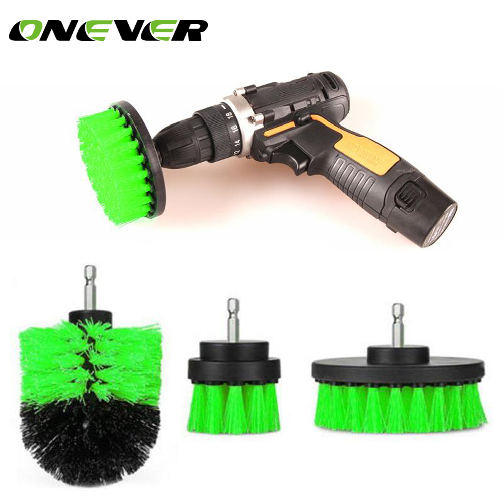 3pcs Power Scrubber Brush Set For Bathroom Drill Scrubber
