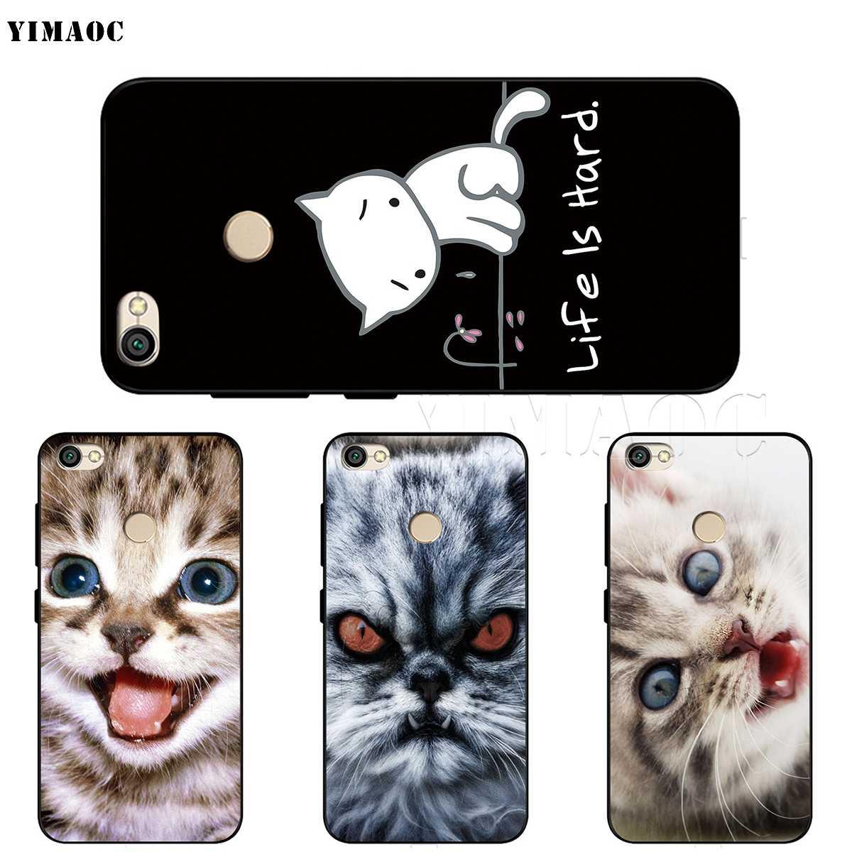 YIMAOC Meow mignon chat Kitty étui pour Xiao mi rouge mi Note MAX 3 6a 7 6 8 9 go se mi 6 mi 8 a1 a2 Lite pour 8A f1