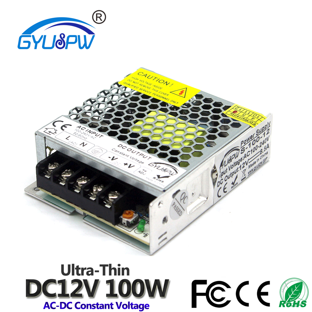 Один Выход Питание DC12V 15 Вт 24 Вт 36 Вт 48 Вт 60 Вт 72 Вт 100 120W 12V светильник ing трансформаторы AC к DC импульсный источник питания для светильник CCTV