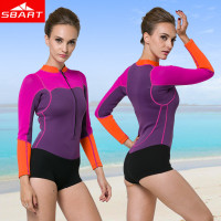 SBART New Arrival Women Neoprene Wetsuit 2MM One Piece Long Sleeve Neopreno Swimsuit Womens Surf boating drifting Swim Dive Wet