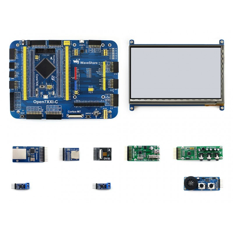 Waveshare STM32F7 Développement Conseil Open746I-C Kit D'extension Paquet STM32F746I STM32F746IGT6 MCU Carte Mère + 10 Modules