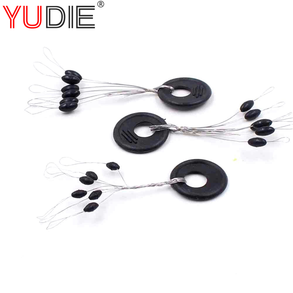 New 10 Group 60PCS Fishing Tackle Resistance Line Space Beans  Not to Hurt The Line  Vertical Beans Fishing Accessories