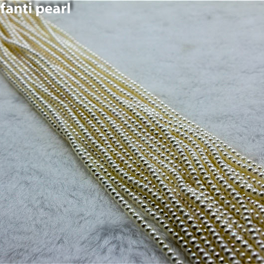 Style casual collier de perles collier de perles d'eau douce 3-3.5 AAAA ronde à la main perle brin petite perle collier - 5