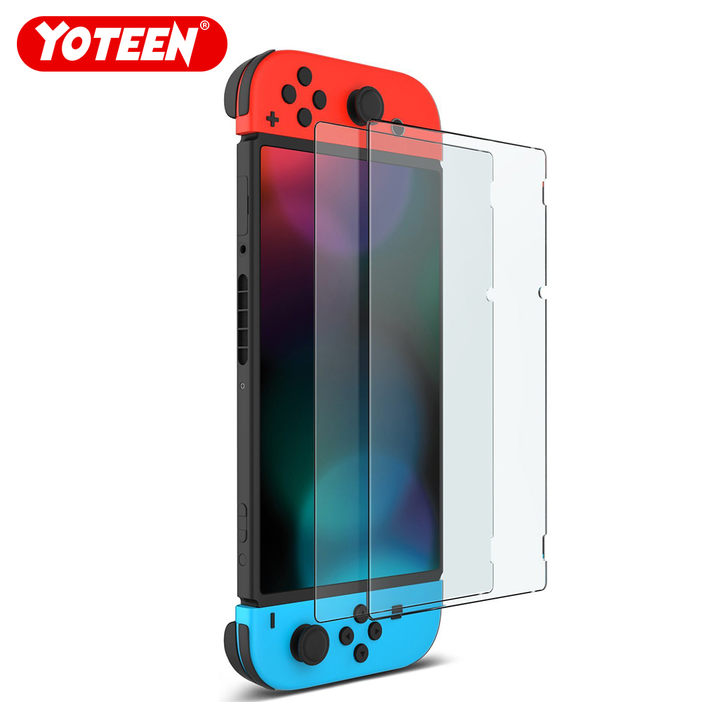 Yoteen 2pcs Screen Protector For Nintendo Switch Premium Tempered Glass 9H Screen Protector NS Glass Screen Protector