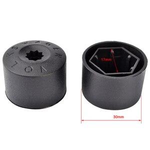 Image 5 - 20 Pcs 17mm גלגל אגוז בורג הגנת כובעי רכב צמיג גלגל רכזת מכסה עבור פולקסווגן פאסאט ג טה פולו גולף MK4 טוראן אאודי חיפושית