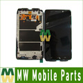1 pc/lot para motorola droid ultra xt1080 lcd display + touch screen + frame digitalizador de color negro