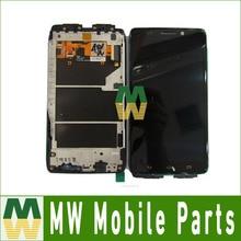 1 Шт./лот Для Motorola Droid Ultra XT1080 ЖК-Дисплей + Сенсорный Экран + Рамка Планшета Черный цвет