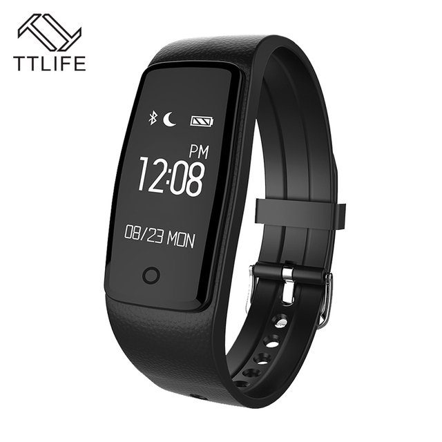TTLIFE Nuevo Monitor Del Ritmo Cardíaco de Bluetooth Pulsera Inteligente S1 Smartband Fitness Podómetro de Seguimiento de Facebook Pulsera Para IOS Android