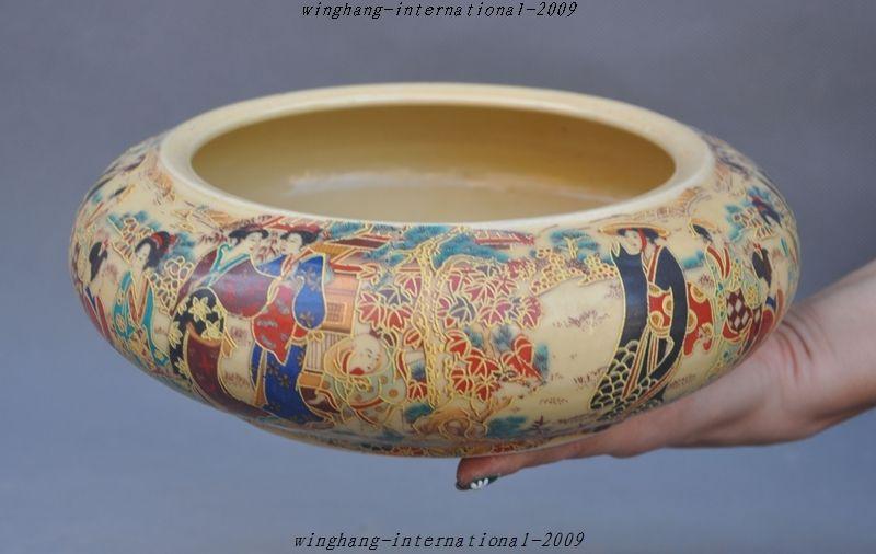 Noël marqué chine wucai vieille porcelaine belle classique personnes motif assiette bol pot halloween