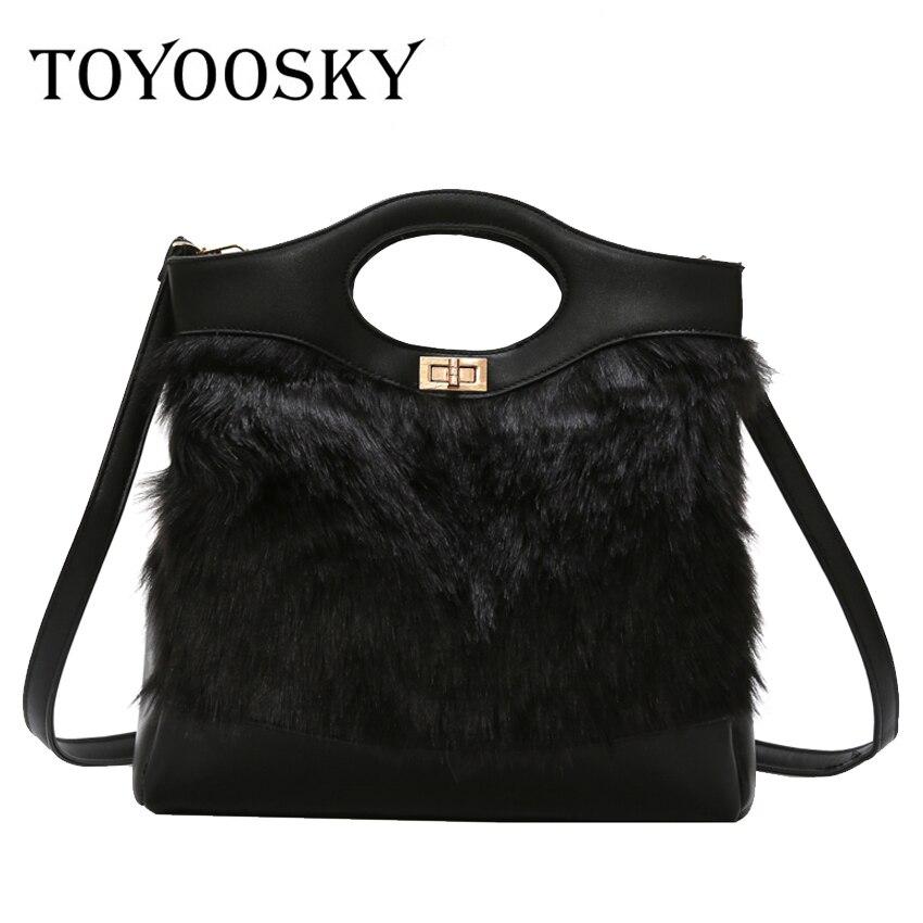 6a505faf63de TOYOOSKY New Clutches Soft Faux Fur Female Handbag 2018 Winter Plush Shoulder  Crossbody Bags for Women Pouch Party Messenger Bag