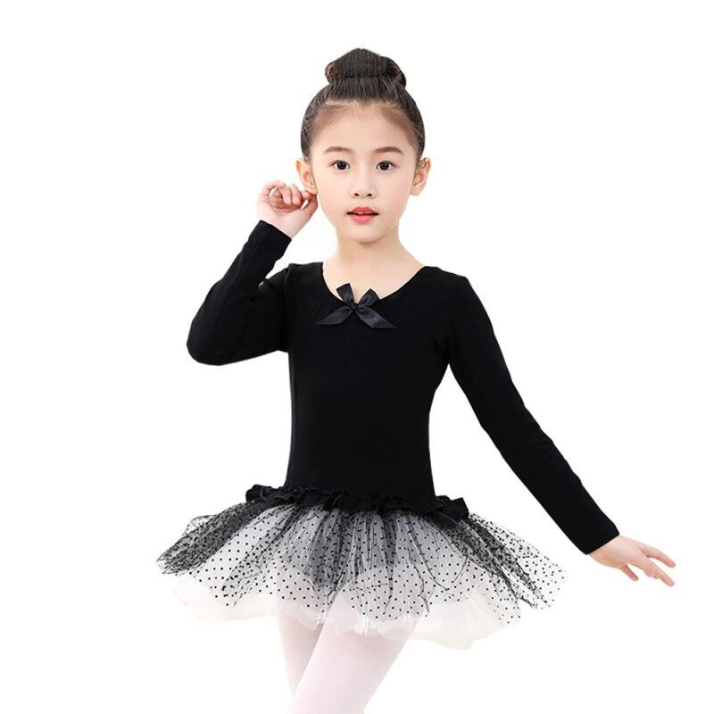 long-sleeved-gymnastics-leotard-font-b-ballet-b-font-dancing-dress-kids-bowknot-dance-wear-with-dots-skirt