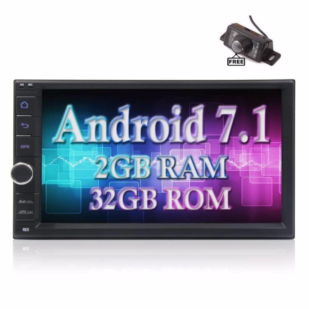 Android 7.1 Octa Core 2GB 32GB 2 Din GPS Car Audio With