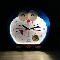 Children Cartoon Dingdang Cat Cute Night Light Alarm Clock Will Talk Lazy Music Creative Student Alarm Clock Table Mute