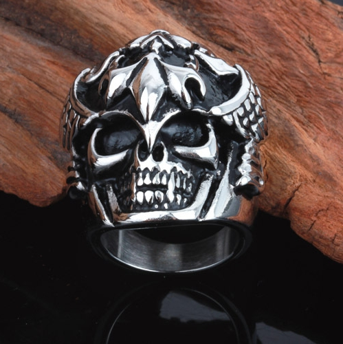 Awesome Rocker Skeleton Skull Ring Men Ring