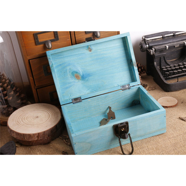 DIY Wood Sundries Storage Boxes Creative Handwork Jewelry Collection