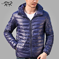 Winter Jacket Men Fashion Men's Down Coat Casual 90% Duck Down Jacket Men Ultra light Parkas Hooded Waterproof Overcoat for Male