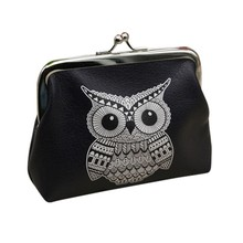 2020 Women's Leather Coin Purse Simple Vintage Owl Pattern Small Wallet Card Case Coin Purse monederos para mujer monedas A50