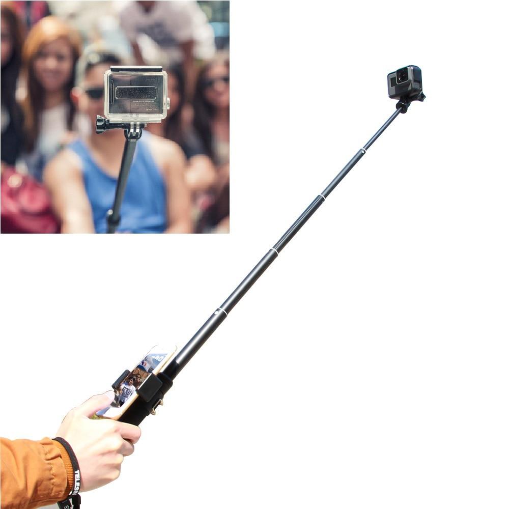 TELESIN Aluminum Alloy Extendable Handheld Selfie Stick Telescoping Pole 3 way Monopod Tripod Mount Stand for