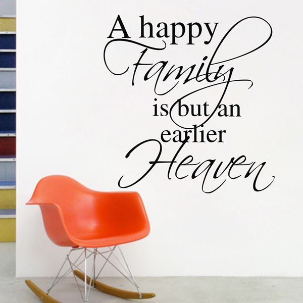 A Happy Family Heart Wall Sticker Vinyl Quotes And Sayings Home