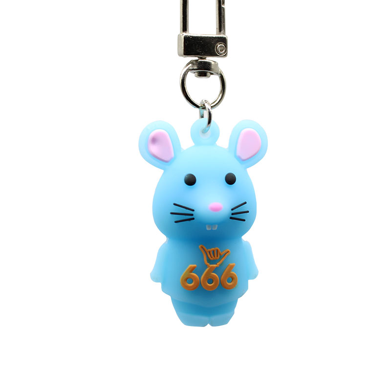 New PVC soft glue Key Chain cute mouse Ring pendant Students bag hanging Popular gifts