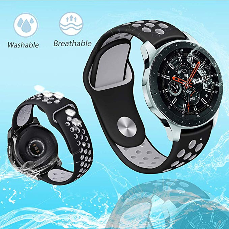 ASHEI 22mm 20mm Silicone Strap For Samsung Galaxy Watch 46mm 42mm Active 2 Gear S3 Frontier/Classic Band For Huami Amazfi Bip