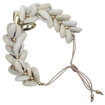 89339100537d DM Concha conchas shell pulsera tejida a mano macrame algodón cuerda 2018 mujeres  pulseras para parejas de la joyería de boho pulsera conchas