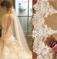 veil veu de noiva veu para noiva longo high quality lace edge veil 3 meters luxury long trailing the bride wedding dress veil