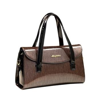 2019 new designer high quality luxury women handbags famous brand patent leather lady messenger bag clip evening clutch wedding