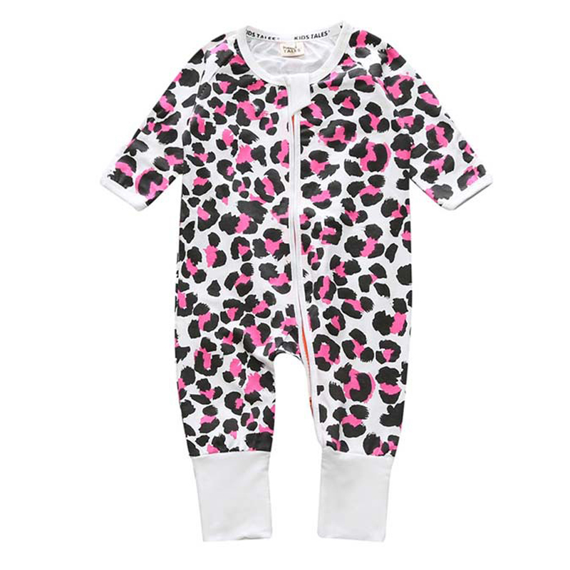 Newborn Bebe Clothes Cartoon Print Baby Boy Jumpsuits Zipper Long Sleeve Baby Boys Rompers Spring Autumn Baby Onesie bebe wear