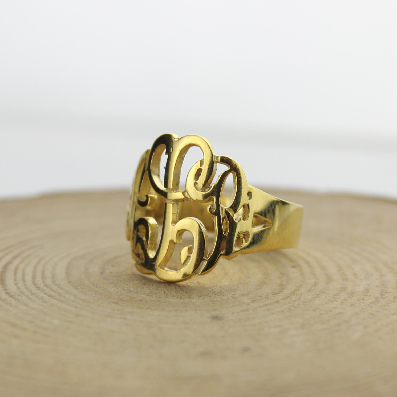 and personalized script rings any chain name double gold plate bhp silver ebay free necklace w