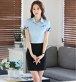 Plus Size Professional Business Suits Tops And Skirt Ladies OL Styles Fashion Work Wear Suits Female Summer Outfits Skirt Sets